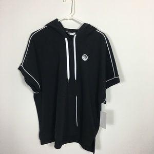 Woman's Black DKNY shortsleeved hoodie size XL